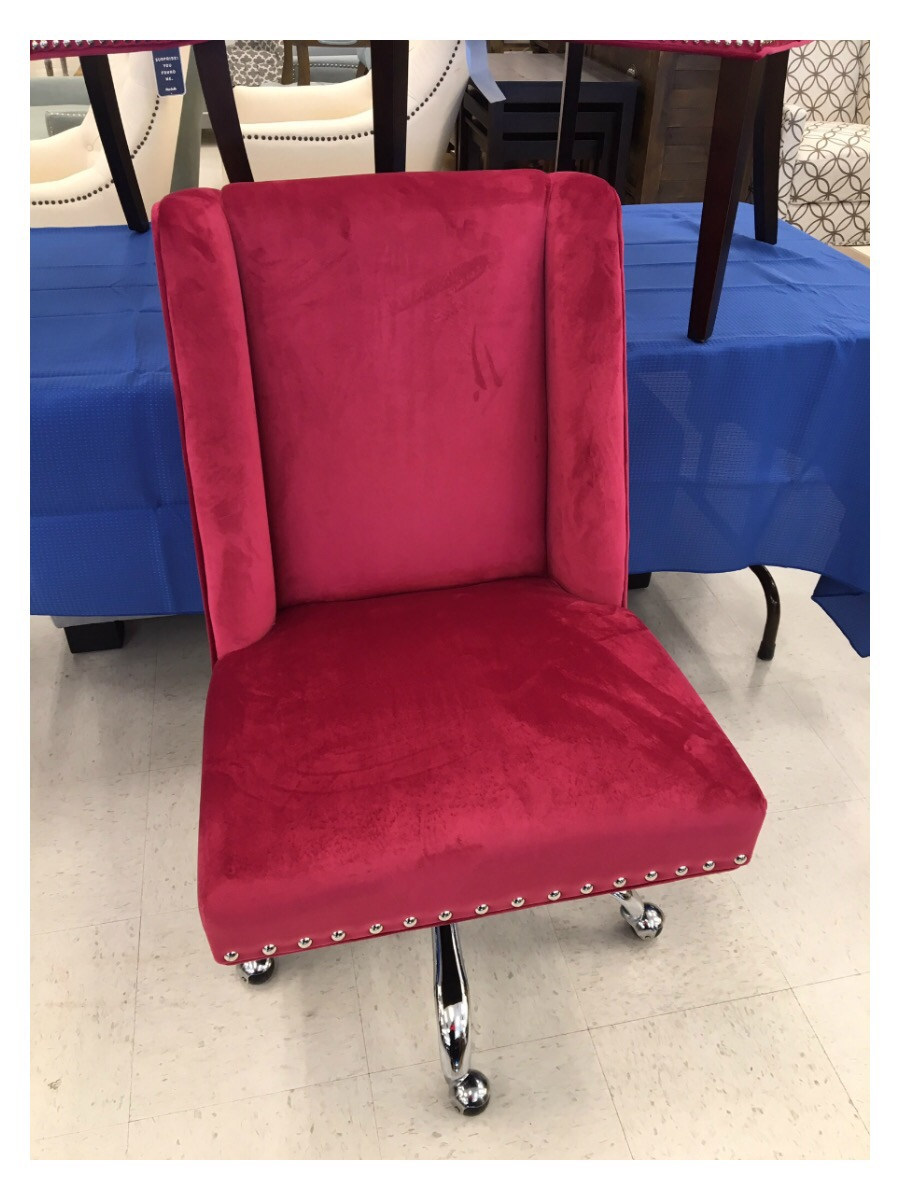 Red pink adjustable office chair at marshalls homegoods