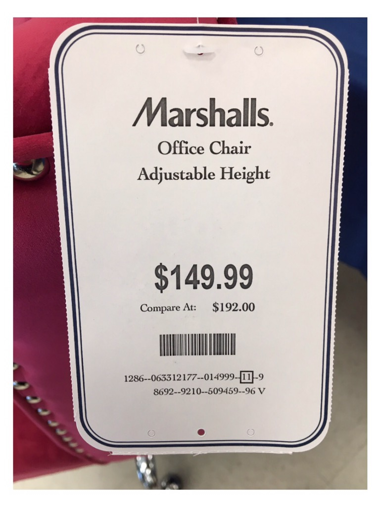 Red pink office chair at marshalls homegoods