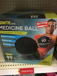 Target clearance , ignite fitness Ball, medicine Ball